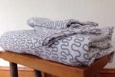 Ikea Krakris Gray White Squiggle Queen Full Duvet Cover Set 2 Pillowcases Cotton