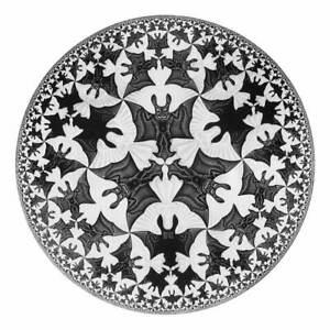 M.C. Escher Angels & Demons Giclee Art Paper Print Poster Reproduction