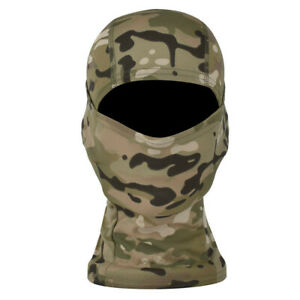 Tactical Outdoor Camo Quick-Drying Full Face Cover Balaclava Hood Hat Airsoft