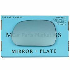 For BMW z3 Roadster 95-03 Left passenger side Blue wing mirror glass with plate