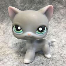 Littlest Pet Shop LPS Figure Loose Toy #126 Grey Short Hair Kitten Cat