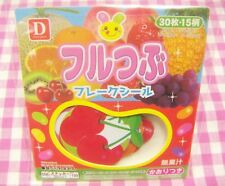 DAISO / Cute Fruits Flake Sticker / Japan 30 pieces Strawberry Cherry Grape