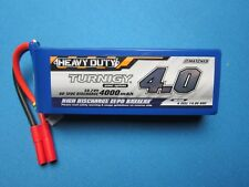 TURNIGY 4000mAh 4S 14.8V 60C 120C LIPO BATTERY HXT 4MM HEAVY DUTY CAR TRUCK HELI
