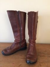 Keen Bern Baby Bern Brown Tan Tall Leather Riding Boots Women 7 37.5 No. 5477