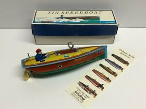 Schylling Collector Series Wind Up Tin Litho Dragon Fly Speed Boat