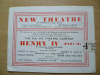 NEW THEATRE PROGRAMME- HENRY IV (Part II) by William Shakespeare