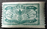 NAZI GERMANY WW2 HEERES NACHRICHTENDIENST ARMY INTELLIGENCE STAMP w/SWASTIKA