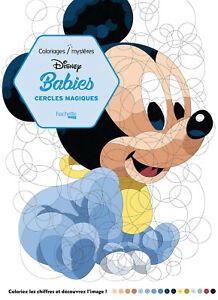 Disney Babies Adult Colouring Book Circles Mystery By Number Cute Fun