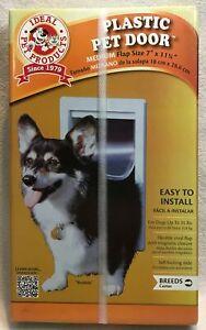 """Ideal Pet Products Plastic Pet Door Medium Flap Size 7"""" x 11 1/4"""""""