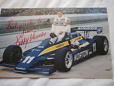 """Bobby Unser Autograph Norton SPirit Indianapolis 1980 color Photo 6"""" x 9.5"""""""
