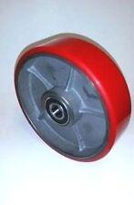 "Pallet Jack Steer Wheel Caster 7"" x 2"" Solid Ultra Polyurethane Nylon 25mm -1""ID"