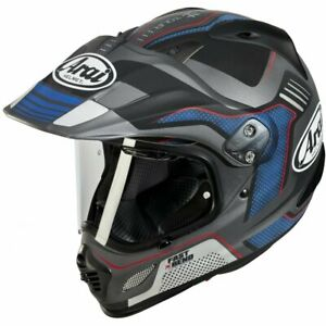 NEW Arai XD-4 Vision Helmet- Grey/Blue/Black from Moto Heaven