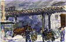 Under the Elevated by American George Bellows. Canvas City Art. 13x19 Print