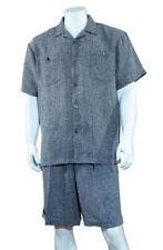 Men's 2-piece Spring/Summer Casual Short Sleeve Shirt Shorts Walking Suit 2967