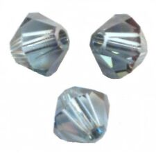 lot 10 Perle Toupie 5mm Cristal Swarovski - AQUAMARINE SATIN