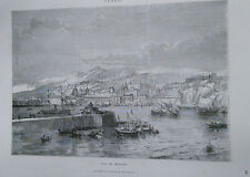 1860 Messina, veduta generale xilografia