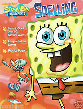 SpongeBob Squarepants SPELLING Homeschool Educational Workbook Age 5-7 Gr K-2