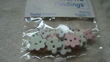 Favorite Findings Mix Pastel Flower Buttons -Scrapbooking/Craft/Doll Clothes