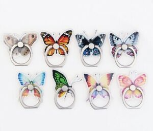 Butterfly 360 Rotating Cell Phone iPhone Bracket Grip Finger Ring Stand Holder