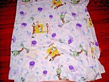 Sponge Bob & Others Flat Sheet Nickelodeon Vintage 2002