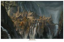 Rivendell - licensed Lord  00006000 of the Rings paper giclee