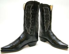 WOMENS LUCCHESE N4651-54 BLK LEATHER SNIP TOE COWBOY WESTERN BOOTS SZ 9.5~1/2 B