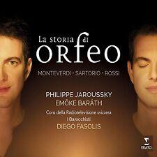 LA STORIA DI ORFEO - JAROUSSKY/FASOLIS/BARATH/I BAROCCHISTI/+  CD NEU