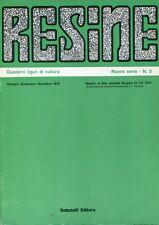 RESINE N. 2 (NUOVA SERIE) 1979 Coletti De Nicola D'Episcopo Barile Zavanone