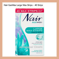 Nair Easiwax Large Wax Strip 40 Strips For Legs Body Chamomile Extract