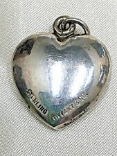 Vintage Tiffany&Co Sterling Puffy Heart Pendant