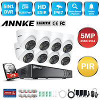 ANNKE H.265+ 5MP 8CH DVR 5MP Video PIR Detection Outdoor Security Camera System