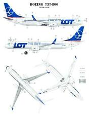 Karaya Models Decals 1/144 BOEING 737-800 Polish LOT Airlines