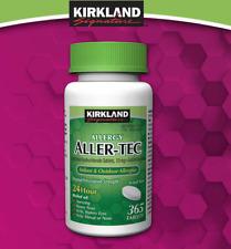 Kirkland Signature Aller-Tec Cetirizine HCL 10mg 365 Tablets Antihistamine