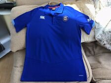 Canterbury Bath Rugby Union Blue Polo Shirt Size Large In Great Condition