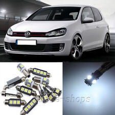 Error Free White 12pcs Interior LED Light Kit for 10-14 VW MK6 MKVI GTI Golf