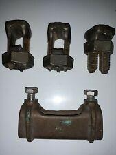 3 Vintage Burndy Ks27 Split Bolt 8-3/Ot 3/Or & 0-3/4 Wire Splice Connector New