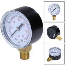 "Swimming Pool Filter Pressure Gauge 1/4"" Bottom Thread 0-60 PSI Side Mount Gauge"