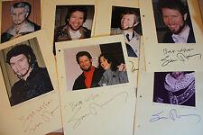 Samuel ramey-ópera - 8 autógrafos originales-tamaño 30 x 21 cm