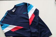 Adidas Originales palmeston Crew Sudadera Top M Azul Rojo Suéter Trébol en muy buena condición