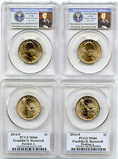 2014 P&D Franklin D. Roosevelt Presidential Dollar Set  PCGS MS66 Position A