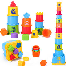 Baby Stacking,Nesting and Sorting Cups,baby toys  12, 18 Month, 1, 2, 3 Year Old