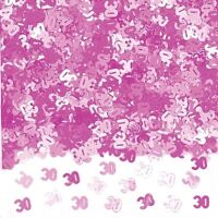 Party 30th 30 Birthday Shimmering Pink Table Metallic Confetti Decoration 991406