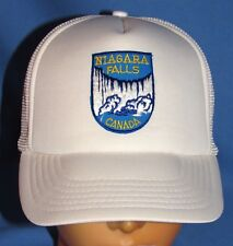 NIAGARA FALLS CANADA MESH TRUCKER'S BASEBALL CAP w/ EMBROIDERED PATCH