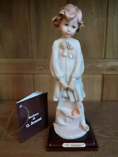 Vintage Giuseppe Armani School Girl Child With Satchel Figurine 1986