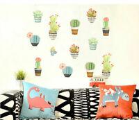 13 Pcs Cactus Kids Nursery Decor Removable Wall Decal Vinyl Stickers Art Mural