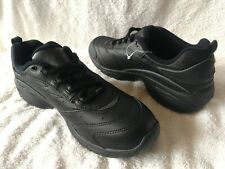 NEW WOMEN'S EASY SPIRIT BLACK LEATHER LACE UP ATHLETIC WALKING SHOES SIZE 9