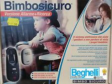 BEGHELLI BIMBOSICURO BAMBINO SICURO RICERCA DETECTOR ALLARME ALLONTANAMENTO BEBè