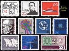 EBS Germany 1966 Anniversaries & Commemoratives Michel 462-463, 475-482 MNH**