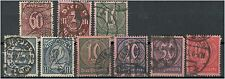 Deutsches Reich Dienstmarke 66 - 74 gestempelt ME 36 (708154)