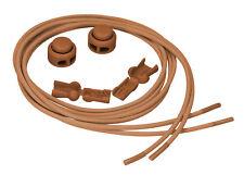 mumbi elastische Schnürsenkel Schnellverschluss Lock Schnellschnürsystem braun